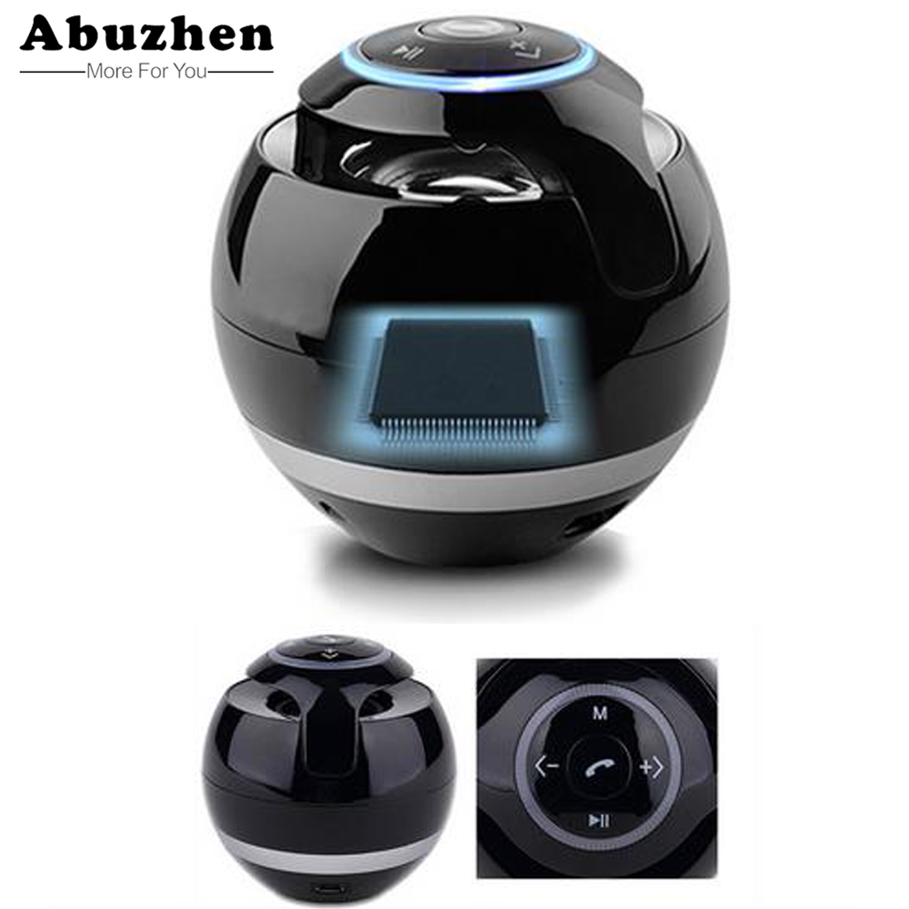 Abuzhen Bluetooth Speaker Mini Portable Wireless Speaker Soundbar Bass Boombox Sound box with Mic TF Card FM Radio LED Light