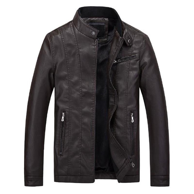 New men's fashion casual men's leather jacket coat motorcycle jacket brand design Free Shipping