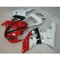 Custom ABS plastic motorcycle injection fairings kit for YAMAHA YZF R1 1998 1999 YZFR1 98 99 red white body repair fairing parts