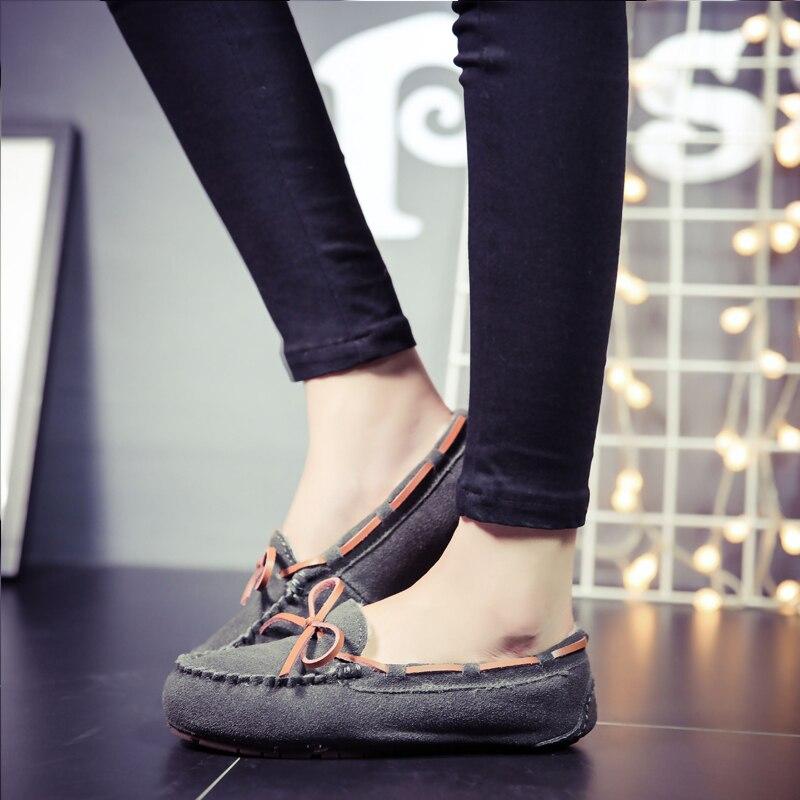 Mocassins Glissement Chaussures Photo 100 Véritable As De Appartements Peluche Dame En Plates Photo Cuir as Femmes Souliers Hiver Chaud 2018 Sur Simple adqnBPPw