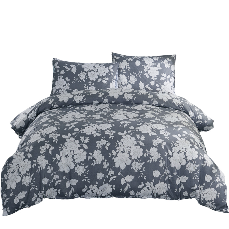 Высокое качество мягкий полиэстер брашированная микрофибра с Постельное белье современный стильное одеяло наволочка кровать подкладки 3 ш...
