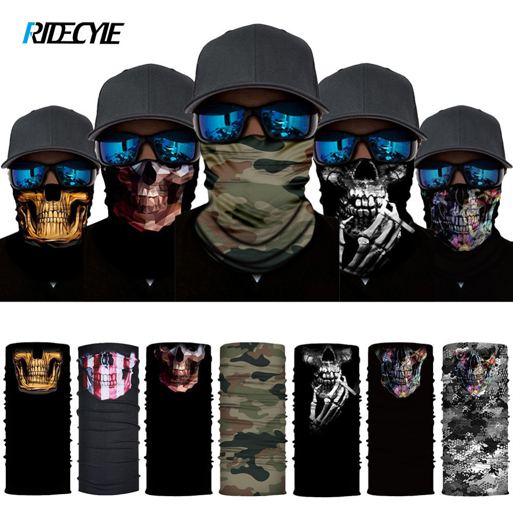 Bicycle Accessories Funny Face Shield Headwear Digital Print Changeable Magic Headband Face Mask Quick-Dry Moisture Absorbent