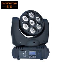 Sample 7x12w RGBW 4in1 High Power Cree LED Moving Head Light Competitive Price DJ Light Stage