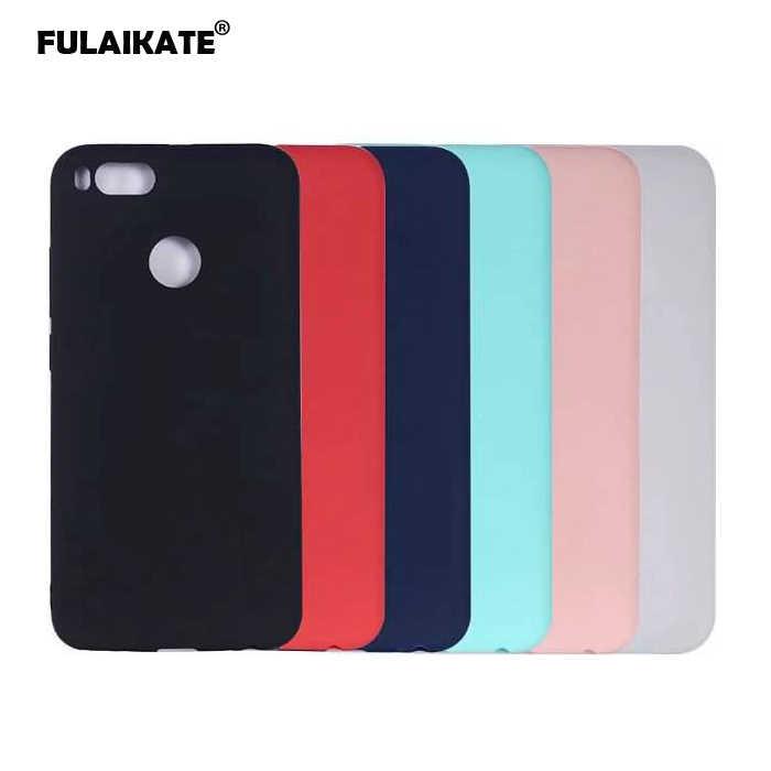 Fulaikateマットtpuケース用xiaomi mi a1 5xソフト裏表紙用xiaomi mi 5x mia1電話保護ケース