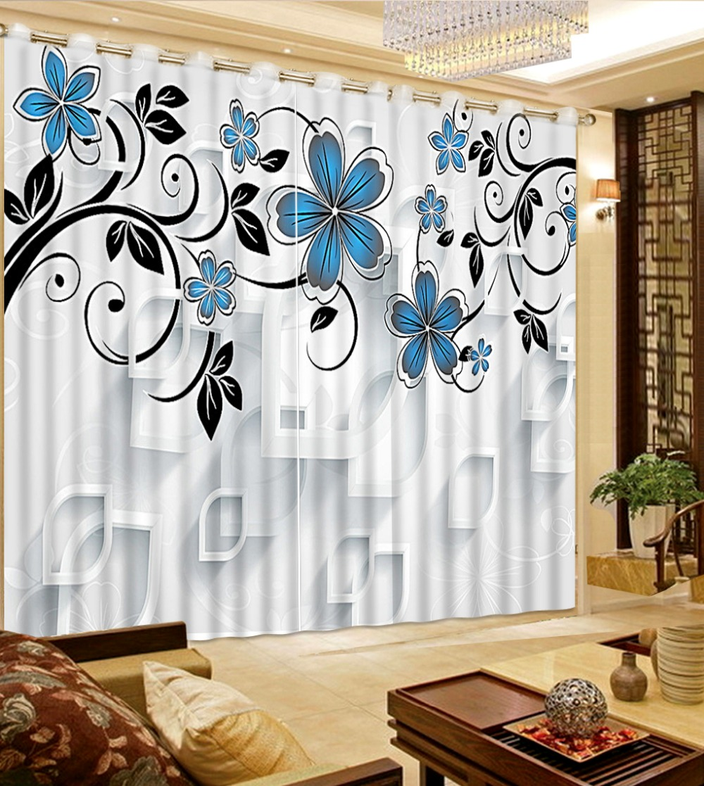 Online get cheap blue room curtains for Custom window curtains online
