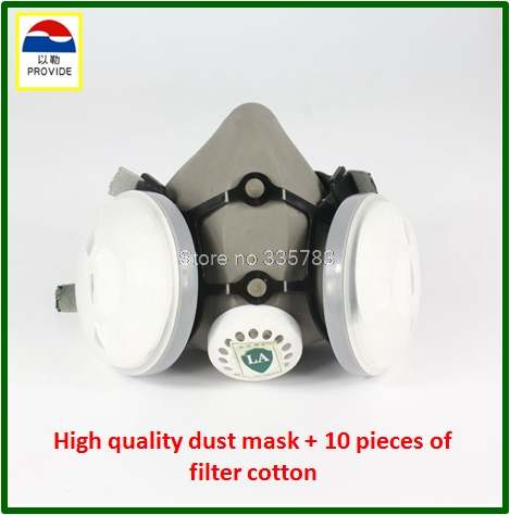 PROVIDE respirator dust mask High quality gray dust mask +10 piece filter cotton painting welding respiration mask provide respirator dust mask high quality gray dust mask 10 piece filter cotton painting welding respiration mask