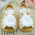 Corea del verano de la Muchacha Del Niño Del Bebé Niños Hueco Zapatos de Bebé de Cuero Suela De Goma Del Zapato