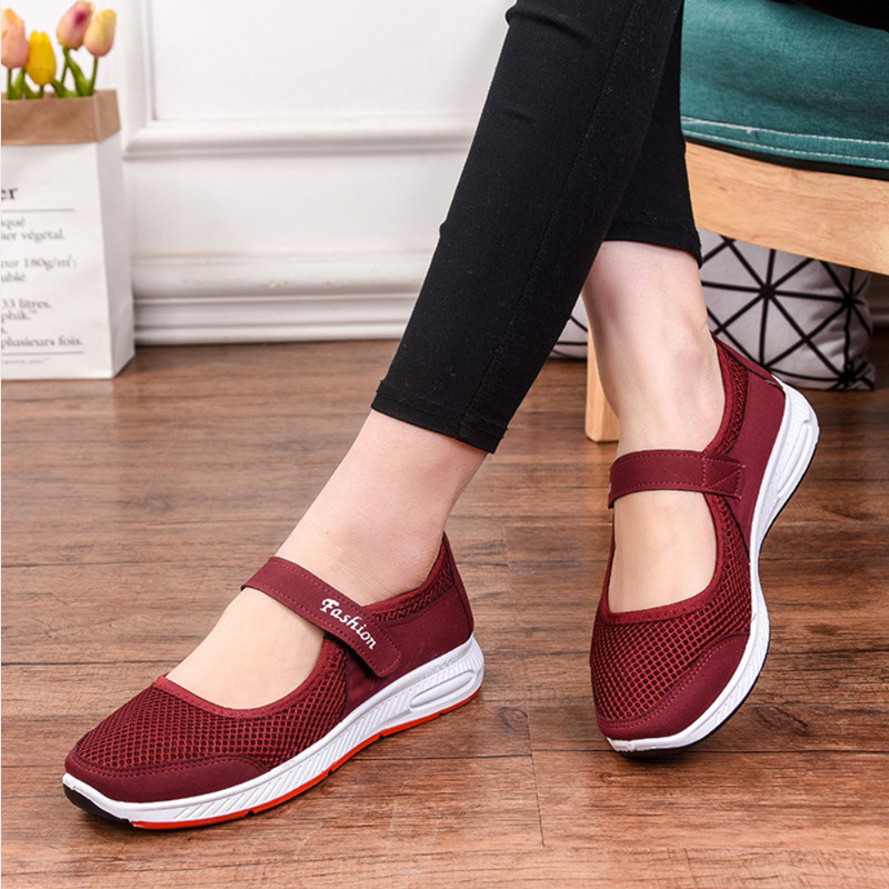 STEPREACH Brand shoes woman flats Mary janes zapatos mujer sandals adult tenis feminino air mesh summer Breathable ComfortableSTEPREACH Brand shoes woman flats Mary janes zapatos mujer sandals adult tenis feminino air mesh summer Breathable Comfortable