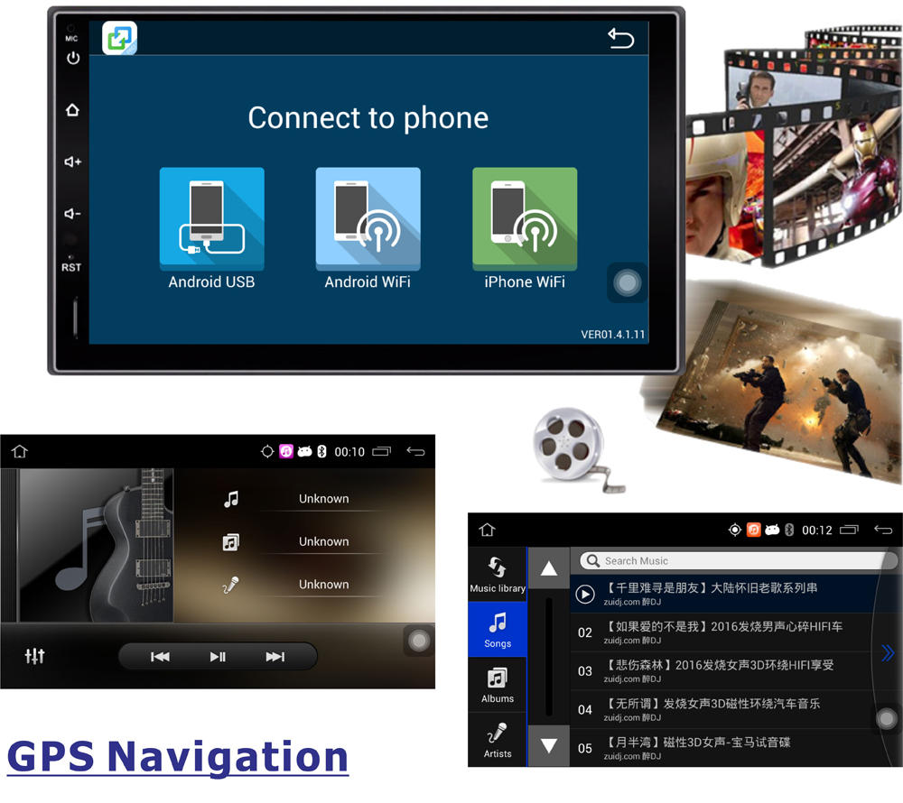 Panlelo Android 6 0 Car Stereo 7 inch 1080P GPS Navigation Radio Bluetooth WiFi Multi Media panlelo android 6 0 car stereo 7 inch 1080p gps navigation radio panlelo wiring diagram at creativeand.co