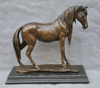 xd 002316 17 Bronze Horse Sculpture Statue On Marble Base