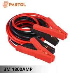 Partol 3M 1800AMP Car Battery Jump Cable Booster Cable Emergency Terminals Jump Starter Leads Cables Wire for Auto Van SUV 12V