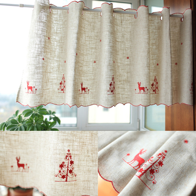 Christmas Curtains For Kitchen Cool Decorating
