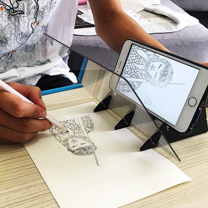 2020 novo esboço assistente tracing desenho placa óptica desenhar projetor pintura reflexão linha de rastreamento tabela