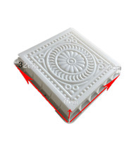 Ancient building floor tile plastic mold cement brick paver molds concrete flower carving path paving mould