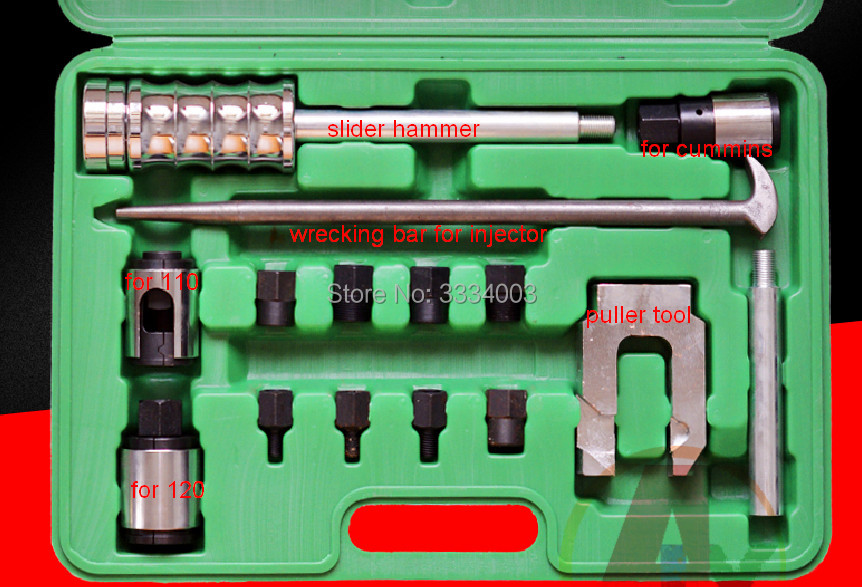 diesel common rail injectors disassemble tool for all cars trucks, common rail injector nozzle puller tool for BOSCCH CUMMINNS diesel fuel common rail injector dismounting puller tool for all brands injectors common rail injector removal tool