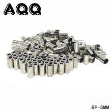 AQQ 100/50 шт велосипедный тормоз переключатель заглушки кабеля серебристые металлические детали велосипеда велосипедные колпачки Аксессуары для велосипеда