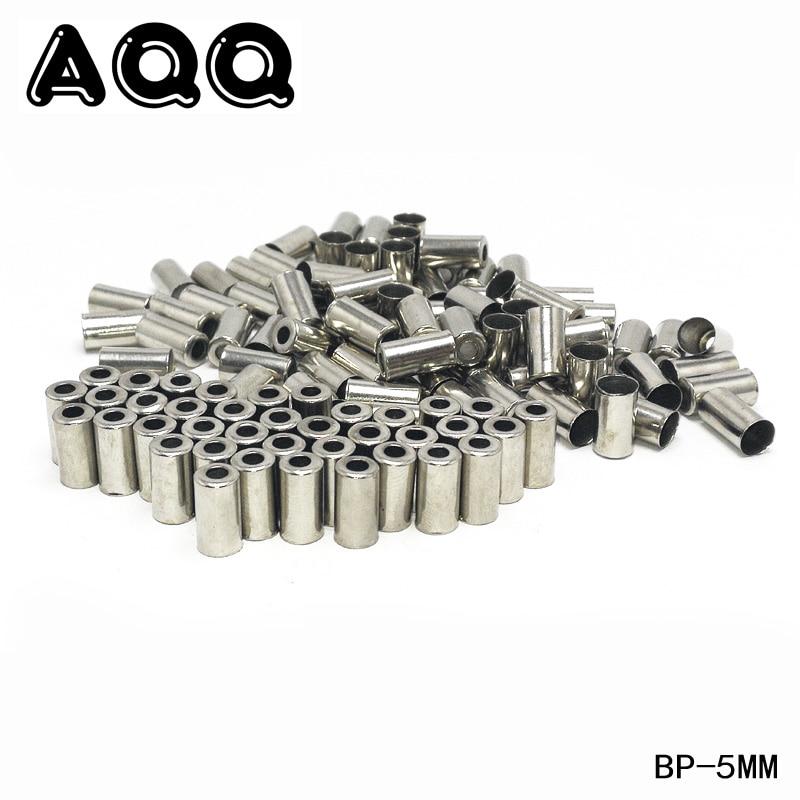 AQQ 100/50 шт. Велосипедные тормозные переключатели, наконечники для кабеля, серебристые металлические велосипедные детали, велосипедные Кабел...