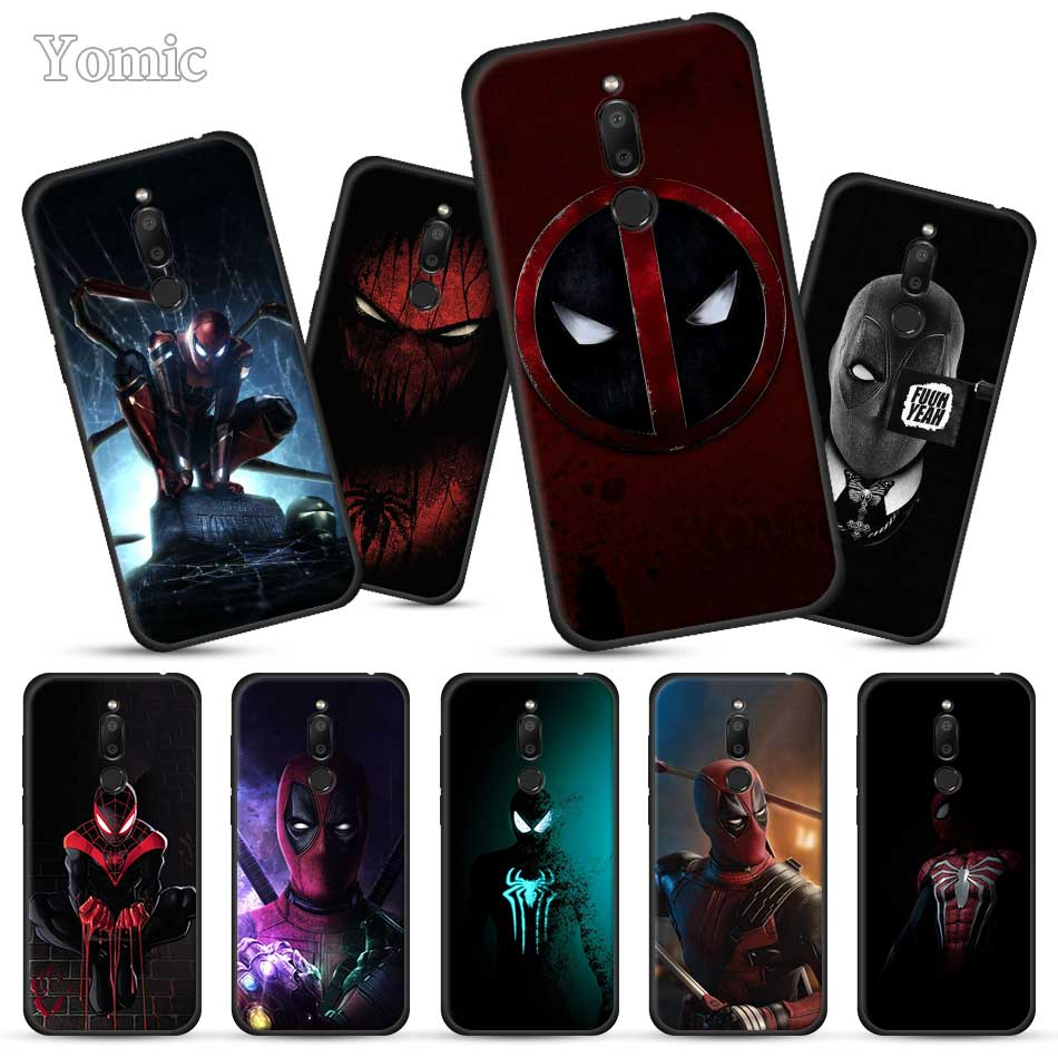 Marvel Deadpool Spiderman Black Case For Meizu M6T 16Xs 16S 16th 16X 16 Full Protective Back Cases Silicone Phone Case Cover