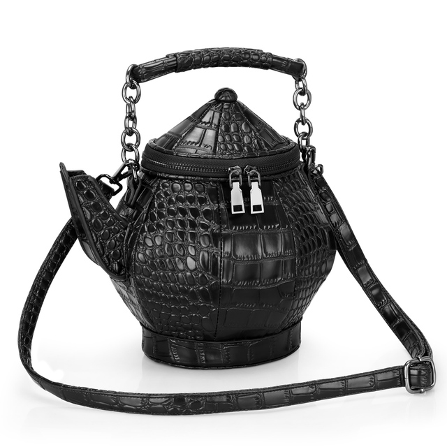 3a7146731a53 Trong 2019 fashion funny teapot shaped handbag women s leather single shoulder  bag Gothic purse party bags