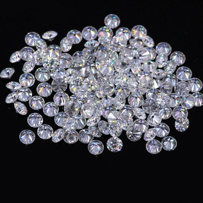 AEAW Test Positif 1.2mm Total 1 CT carat F Couleur Laboratoire Certifié Moissanite Diamant Lâche Perle Similaire pour Garçon diamant