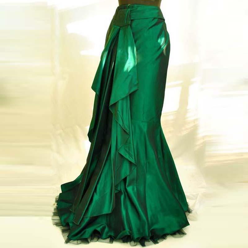 Green Taffeta Skirt 102