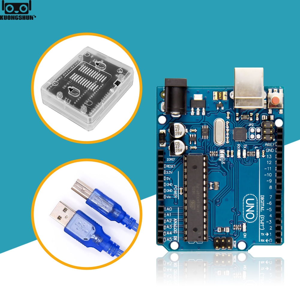 UNO R3 Official Box ATMEGA16U2+MEGA328P Chip For Arduino UNO R3 Development Board