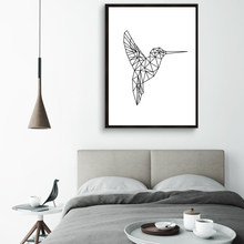 Digital Download Art Hummingbird Printable Poster Canvas Wall Art Oil Paintings Wall Picture for Living Room Home Decor No Frame(China)