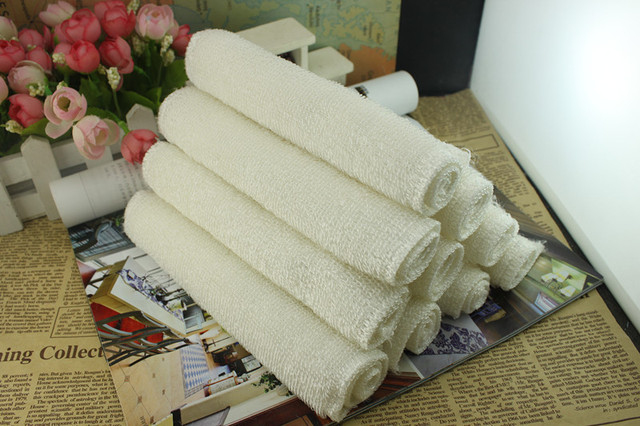 Bamboo Kitchen Towel Strong Decontamination Scouring Pad 10 Pieces Bag Dishcloths Rags