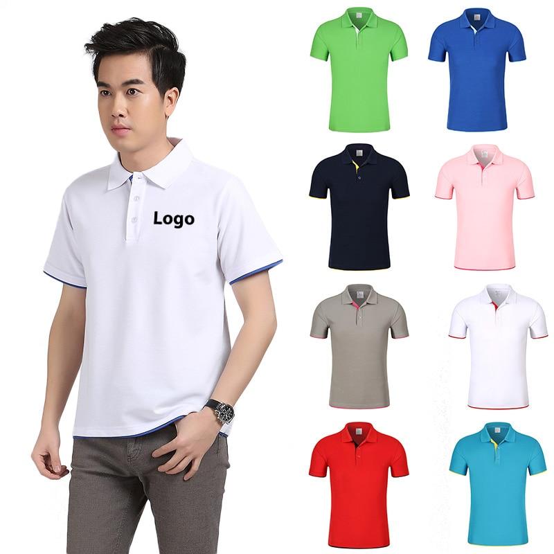 Custom Polo shirt Customized Printing Design Photo Logo Customized Uniform For Company Team Unisex Short Sleeve Cotton Polos