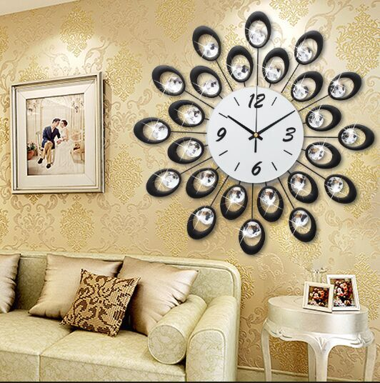 Home Decoration Wall Clock Modern Design Large Decorative
