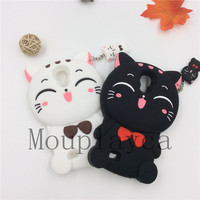 Fashion 3D Cartoon Animal Money Drawing Cat Soft Silicone Cell Phone Case Cover Skin For Samsung