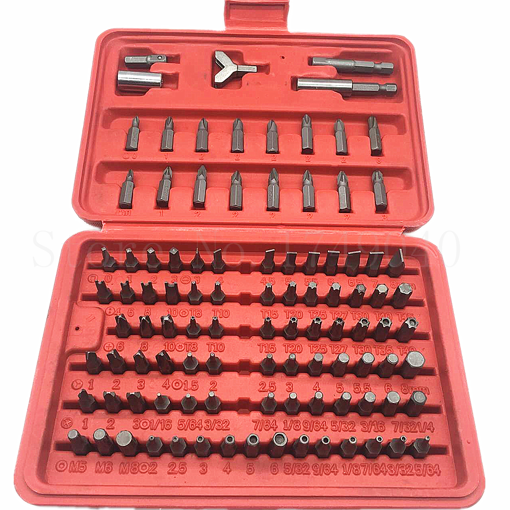 NEW Magnetic Driver Guide 32 PC Kit Star,Hex,Square,Slotted,Phillips,Screw Bits