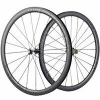 WINDBREAK 38mm Carbon Clincher Wheelset Road Bike Wheels Novatec 271 Hub Matte Clincher Carbon Road Wheels