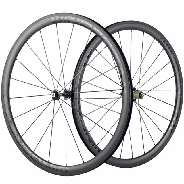 Windbreak 38mm Carbon Clincher Wheelset Road Bike Wheels Novatec