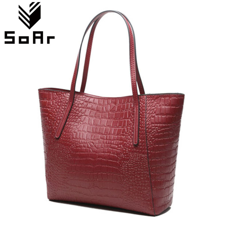 SoAr Women Bag Genuine Leather Cow High Quality Ladies Totes Solid Bag Women Large Capacity Handbags Hot Sale Bags New Fashion 4 qiaobao 100% genuine leather handbags new network of red explosion ladle ladies bag fashion trend ladies bag