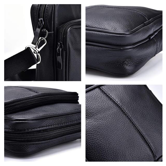 fd9cebc0842f New Men s Business Genuine Leather Mini Crossbody Bags Portable European  Style Male Single Shoulder Crossbody Bag