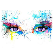 Diy Painting By Numbers,Pictures Numbers,Wall Picture,Colorful Eye Digital Oil