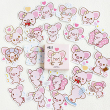 45Pcs/box Kawaii Powder pig Mini Decoration Paper Sticker DIY Scrapbook Notebook Album Sticker Stationery Girl Stickers 50pcs box travel building decoration stickers mini paper decoration diy scrapbook notebook album sticker stationery girl sticke