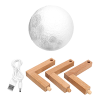 ITimo 3D Moon Night Light Birthday Valentines Gift Moonlight Indoor Lighting USB Rechargeable Magical Table Desk