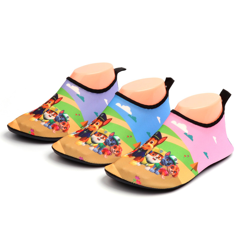 Kids Slippers Cartoon Dog Water Shoes Children Slippers Summer Aqua Socks Beach Shoes For Swimming