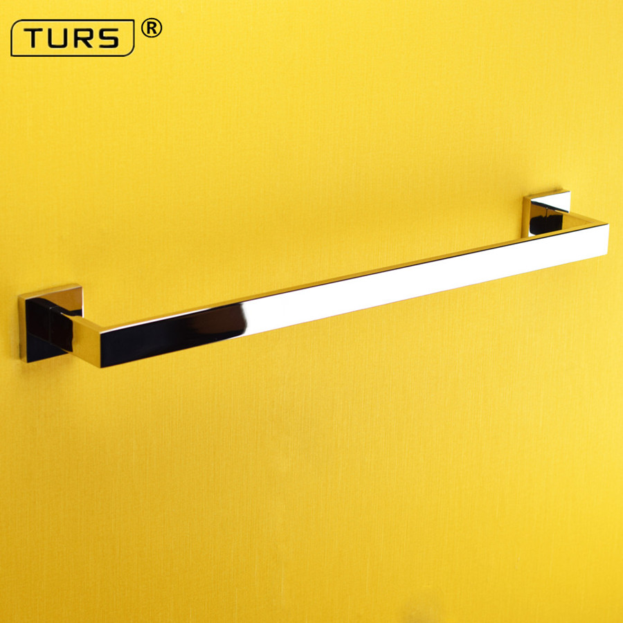 2018 SUS 304 Stainless Steel Square Single Towel Bar Mirror Polished Towel Rack In The Bathroom Wall Mounted Towel Holder