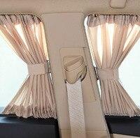 50S Aluminum Shrinkable Windowshade Curtain For Auto Car Front Rear Windows Beige