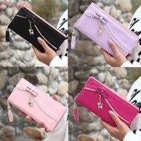 Ocardian Wallets Holders Photo Holder Leather Wallet Female Credit Women Mini Grind Magic Bifold Card Holder