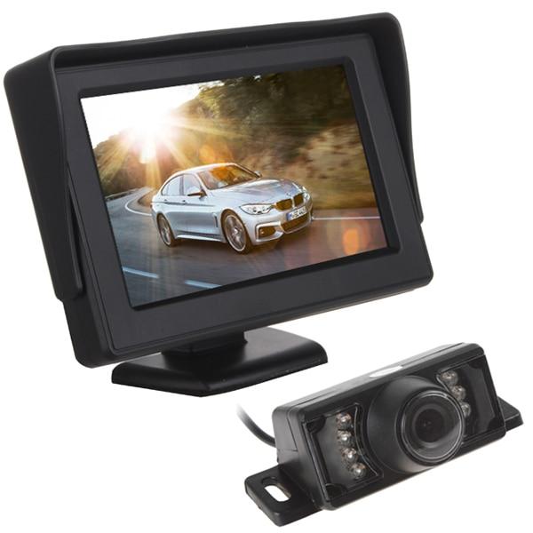 CAR HORIZON 4.3 Inch HD Digital Panel Car Rearview LCD Monitor + 7 IR Lights Night Vision Car Rear View Reversing Camera