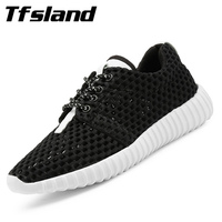 Tfsland Summer Women Flat Breathable Running Shoes Female Non Slip Sports Shoes Net Mesh Walking Shoes
