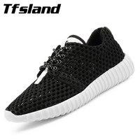 Tfsland Summer Women Flat Breathable Running Shoes Female Non Slip Sports Shoes Net Mesh Walking Shoes