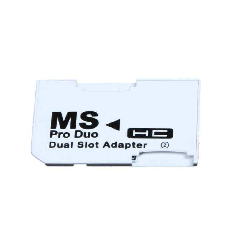 ALLOYSEED двойной слот Micro для SD SDHC TF карты памяти MS Card Pro Duo Reader Адаптер PSP белый
