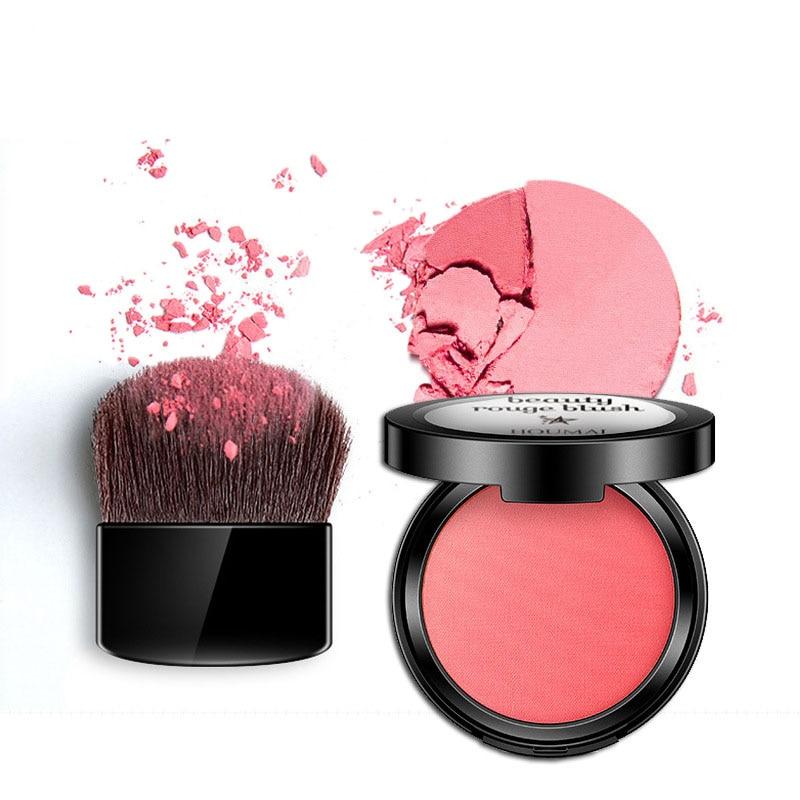 Пудра для макияжа румяна щек 4 цвета Румяна разных цветов пудра прессованная