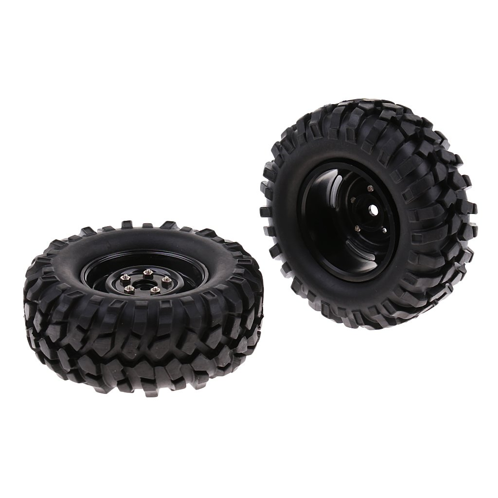4pcs 1/10 RC Car 96mm Tires Wheel Rim Rock Crawler Monster Truck Spare Replacement Parts Accessories Hardware for RC4WD SCX10