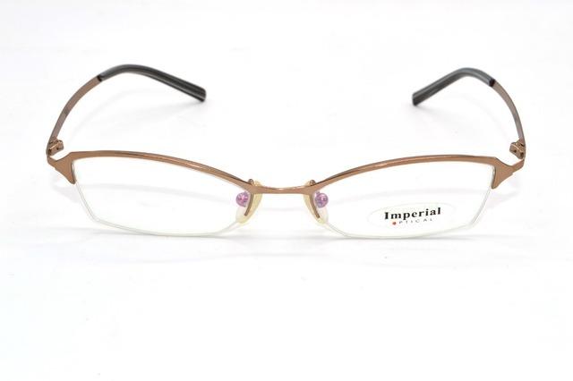 Meia-rim titanium liga ultraleve irregular forma de negócios sob medida prescrição óculos míopes photochrmic-1 to-9